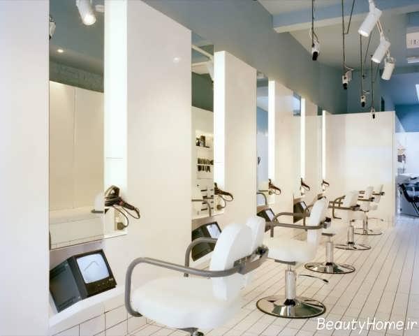 دکوراسیون مدرن و شیک آرایشگاه زنانه