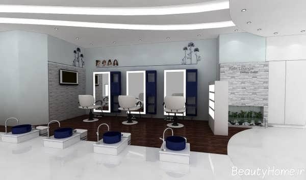 دکوراسیون مدرن آرایشگاه زنانه