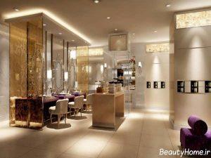 دکوراسیون مدرن و زیبا آرایشگاه زنانه