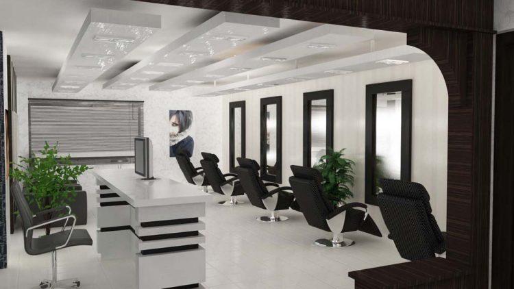 طراحی دکوراسیون آرایشگاه زنانه با طراحی جدید و مدرن