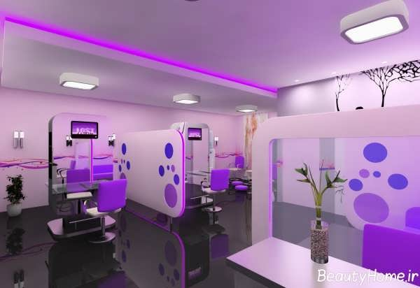 دکوراسیون داخلی آرایشگاه زنانه شیک و مدرن