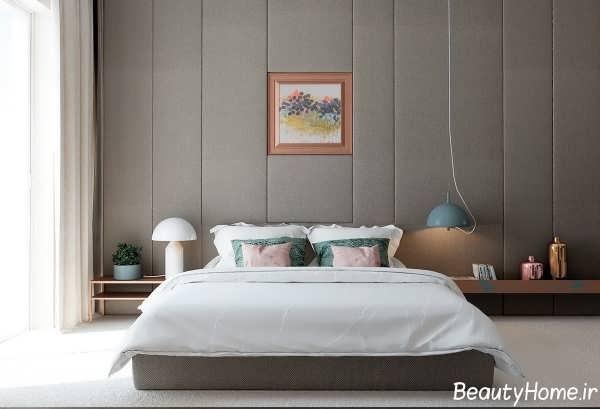 دکوراسیون داخلی اتاق خواب خاکستری