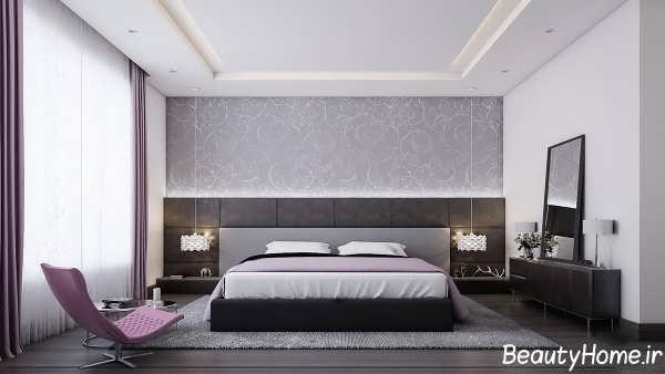 طراحی دکوراسیون داخلی اتاق خواب با رنگ خاکستری