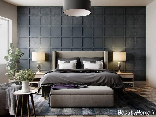 دکوراسیون داخلی اتاق خواب با رنگ تیره