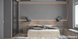 طراحی داخلی اتاق خواب خاکستری
