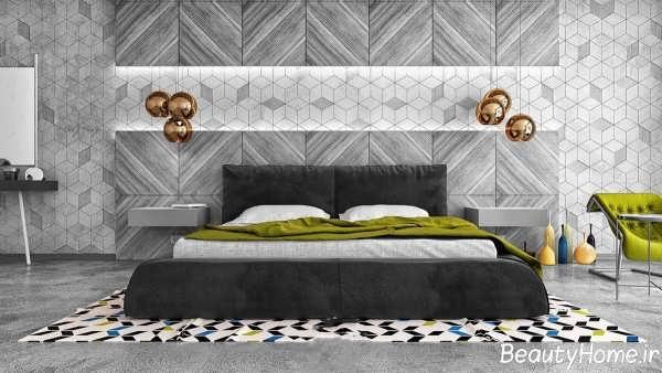 دکوراسیون مدرن اتاق خواب ها با رنگ خاسکتری