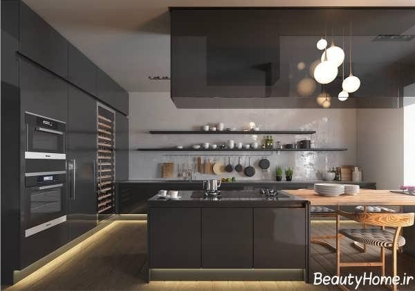 دکوراسیون زیبا و شیک آشپزخانه های مدرن