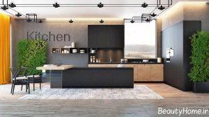 دکوراسیون زیبا و شیک آشپزخانه های تیره