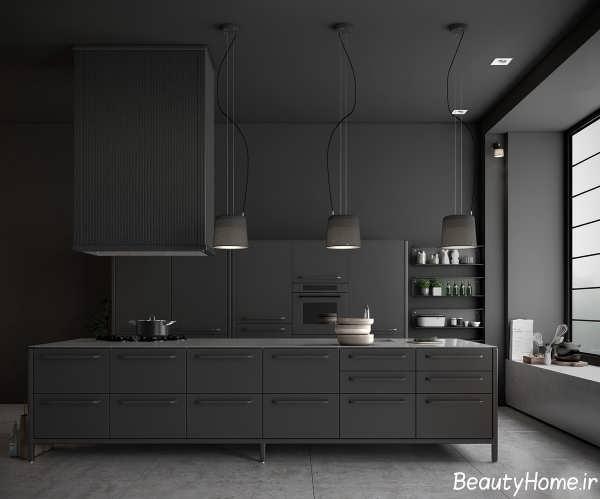 طراحی دکوراسیون سیاه برای آشپزخانه های مدرن