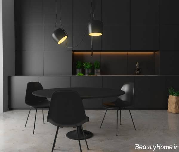 آشپزخانه های سیاه و زیبا با دکوراسیون های لوکس و امروزی