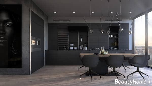 آشپزخانه های سیاه با طراحی مدرن و زیبا