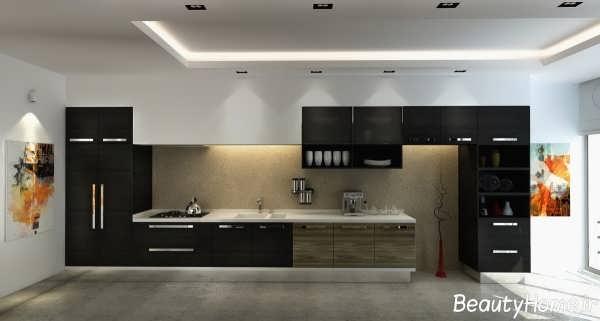دکوراسیون داخلی آشپزخانه های سیاه و زیبا