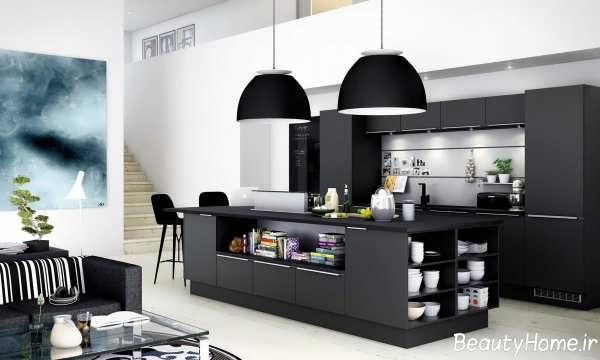 آشپزخانه سفید و سیاه