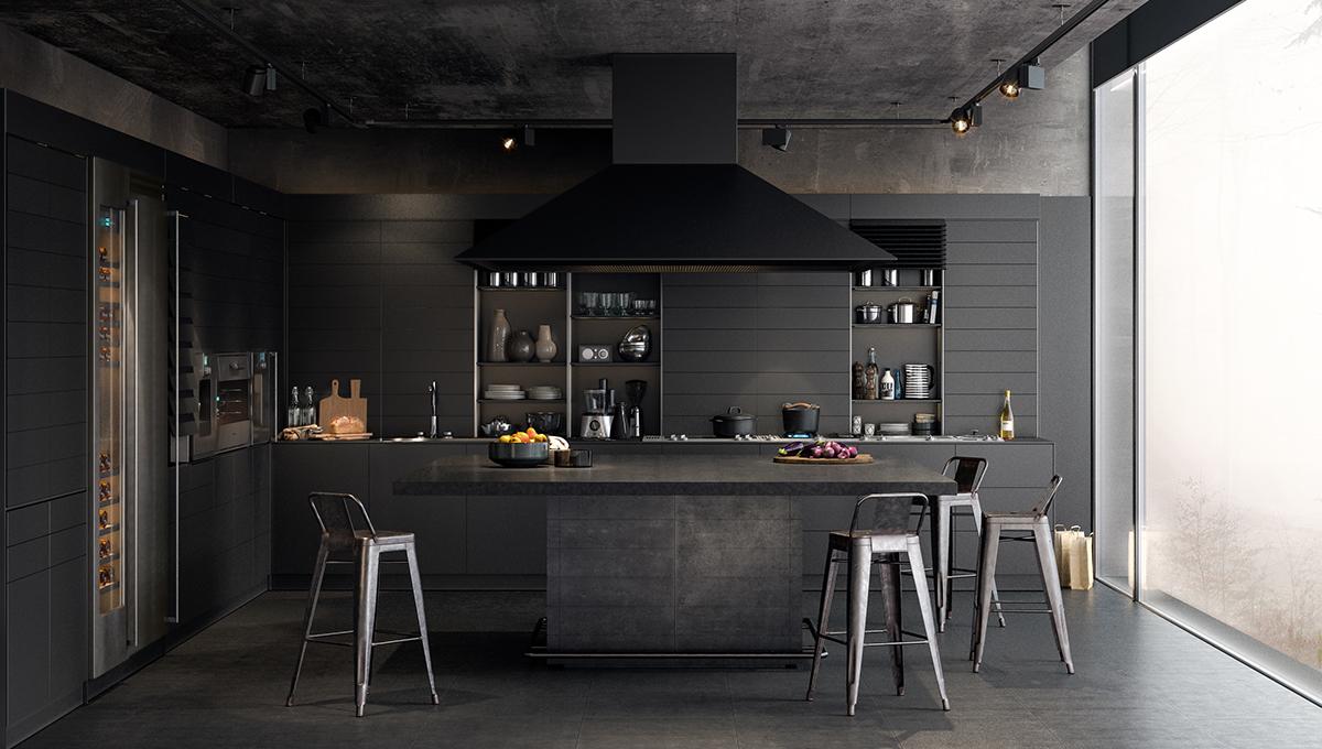 تصاویر 30 آشپزخانه سیاه با دکوراسیون های داخلی متفاوت و شیک