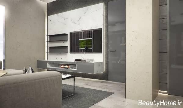 طراحی زیبا دکوراسیون منزل با رنگ خاکستری