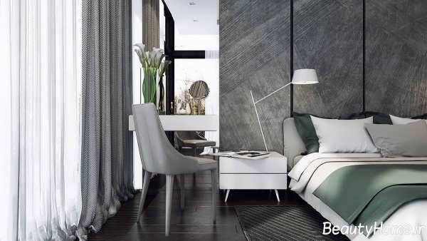طراحی دکوراسیون اتاق خواب با رنگ خاکستری
