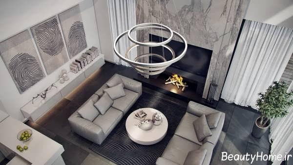 طراحی دکوراسیون داخلی منزل با رنگ زیبا خاکستری