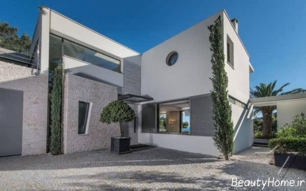 نمای زیبا خانه ویلایی