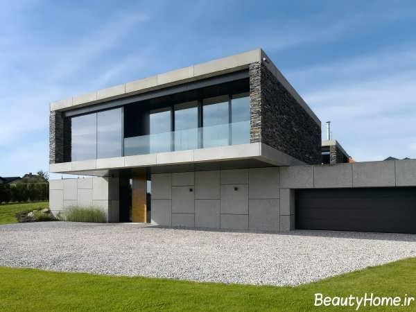 طراحی های مدرن برای نمای خانه ویلایی