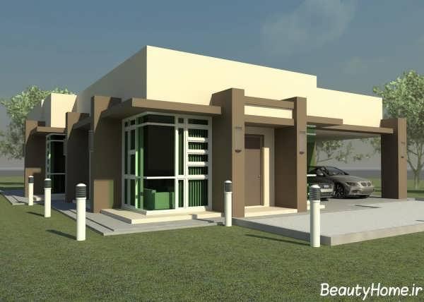 نمای مدرن خانه ویلایی