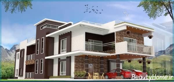 نمای مدرن و زیبا برای خانه های ویلایی