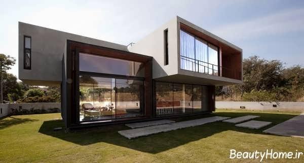 نمای زیبا و متفاوت خانه ویلایی