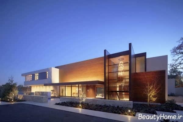 نمای خانه ویلایی مدرن و زیبا