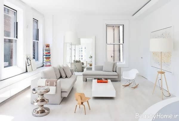 دکوراسیون منزل سفید با دیزاین های شیک و متفاوت