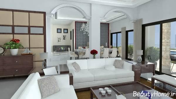 دیزاین داخلی خانه های با دکوراسیون سفید