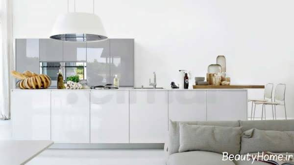 طراحی دکوراسیون آشپزخانه های سفید