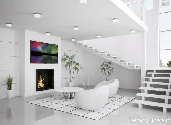 دکوراسیون منزل سفید با دیزاین های شیک و کاربردی