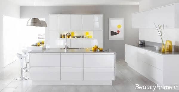 طراحی دکوراسیون آشپزخانه سفید