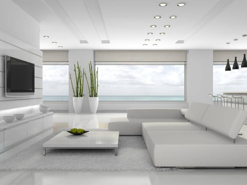 دکوراسیون منزل سفید با طراحی های زیبا و مدرن