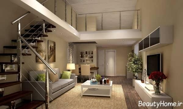 دیزاین معماری خانه دوبلکس زیبا و شیک