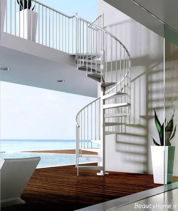 راه پله های گرد برای داخل ساختمان