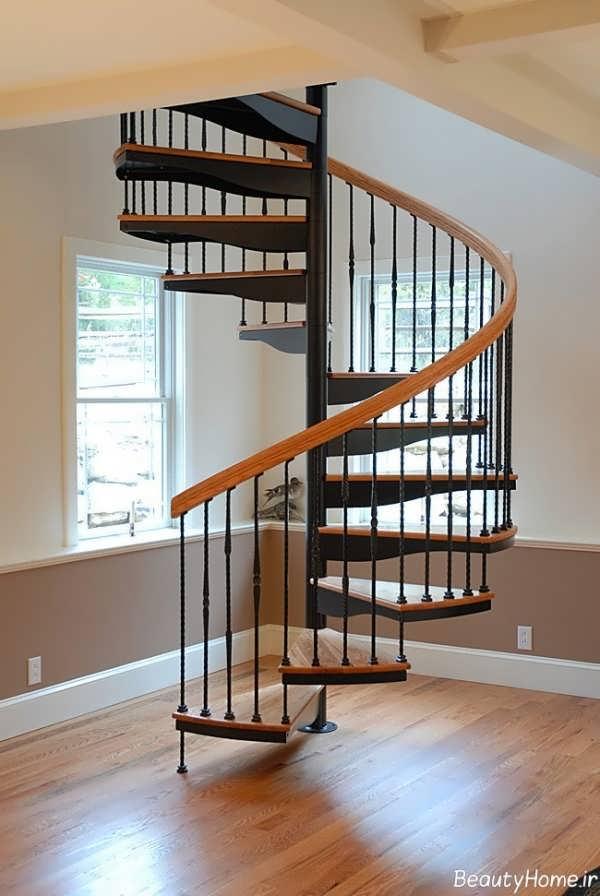 راه پله های گرد و شیک برای خانه های زیبا
