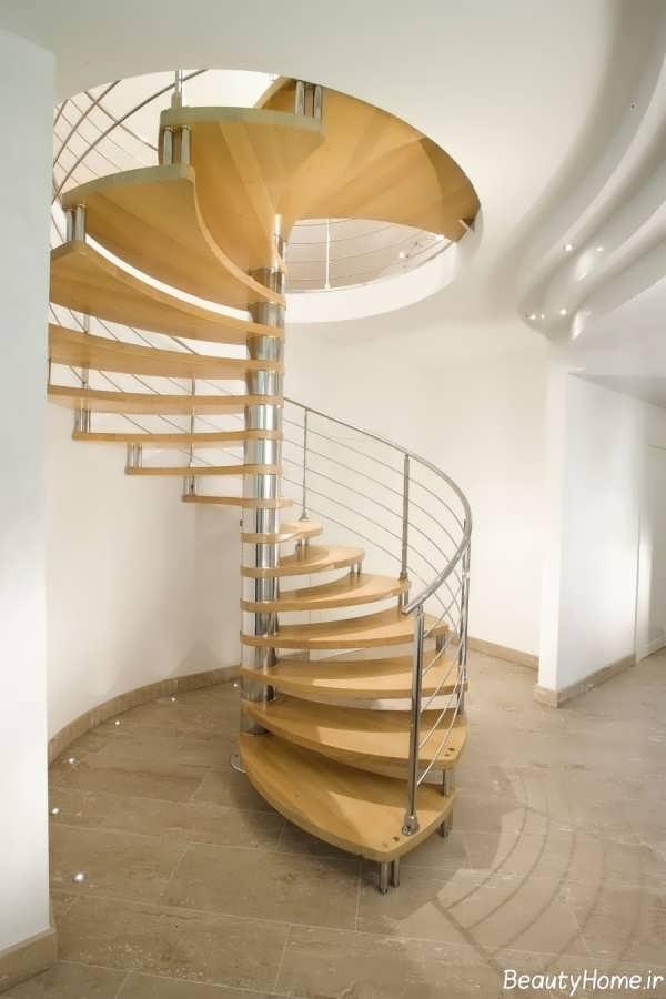 مدل راه پله گرد برای خانه های شیک