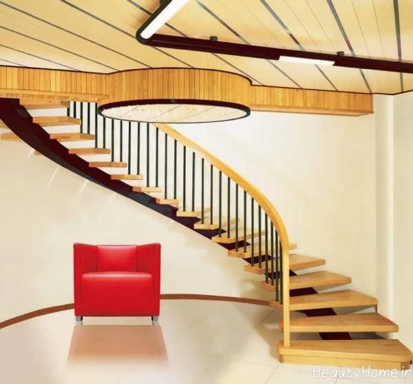 انواع مدل های راه پله گرد برای داخل و بیرون ساختمان