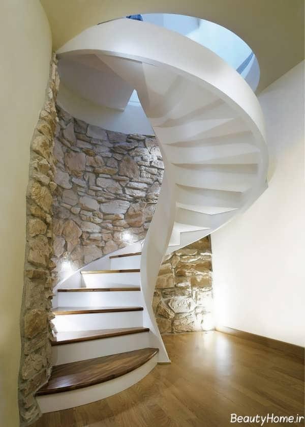 مدل راه پله گرد با طراحی بی نظیر و کاربردی