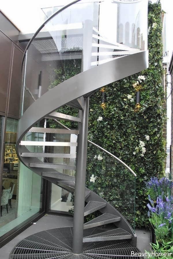 راه پله های گرد برای نمای بیرونی ساختمان