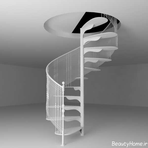 مدل راه پله گرد زیبا و شیک