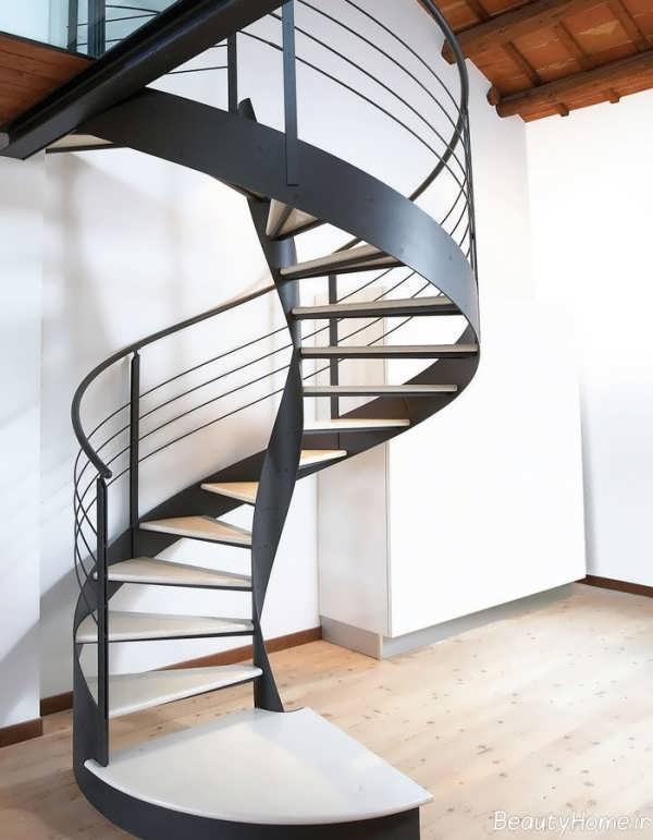 راه پله های گرد با طراحی های مدرن