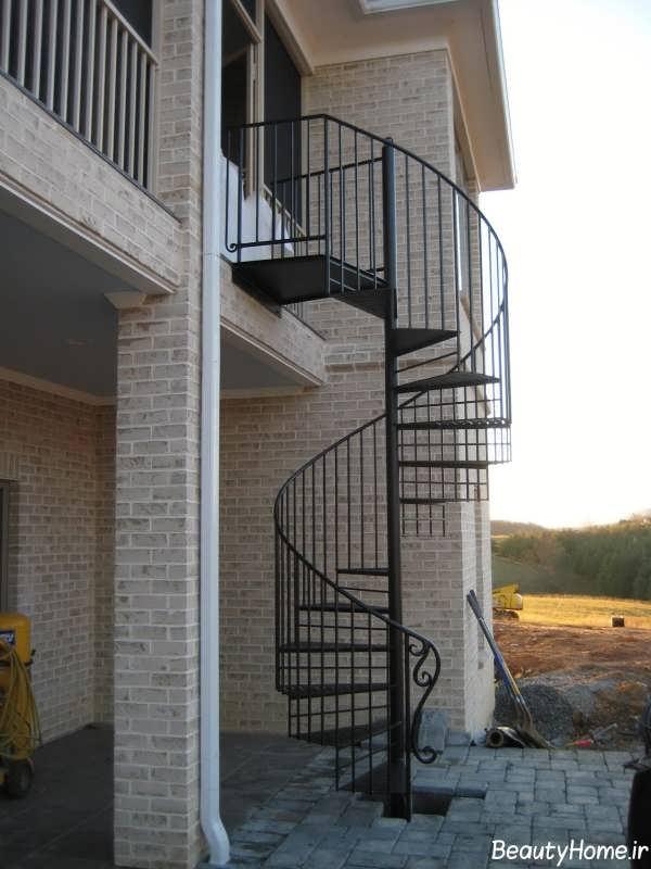مدل های زیبا و جدید راه پله های گرد برای نمای بیرونی ساختمان