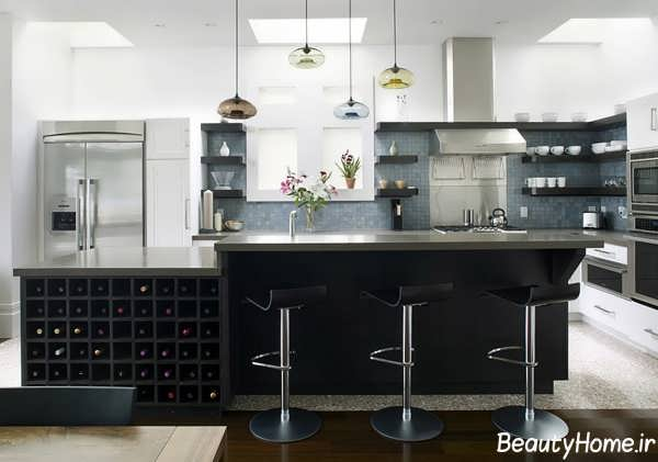 انواع مدل های کاربردی زیبا و شیک بار آشپزخانه