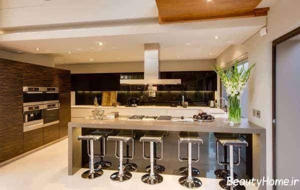 بار آشپزخانه زیبا و جدید