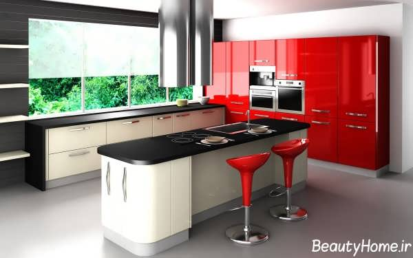 بار آشپزخانه زیبا و مدرن