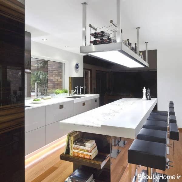 بار آشپزخانه با طراحی زیبا و کاربردی