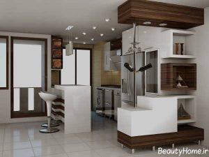 اپن آشپزخانه با طراحی مختلف و متفاوت