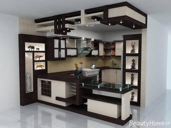 مدل های زیبا و جدید اپن آشپزخانه کوچک و بزرگ