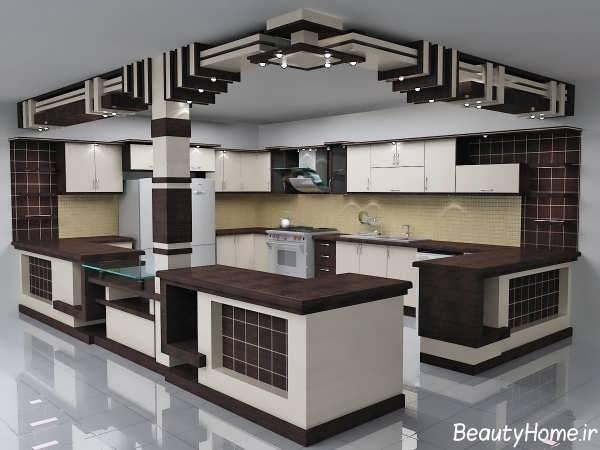 مدل آشپزخانه اپن با طراحی کاربردی و مدرن
